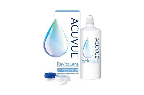 Acuvue Revitalens (360 ml), Soluzione per lenti a contatto + 1 portalenti