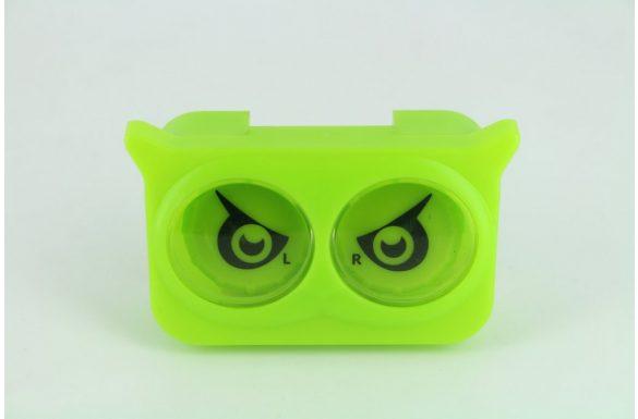 Kit custodia lenti a contatto occhi colorati, Colore: verde