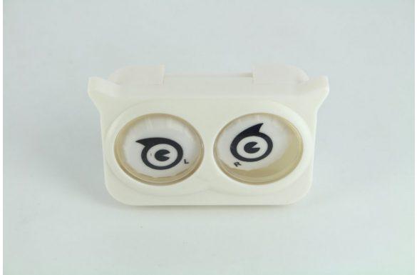 Kit custodia lenti a contatto occhi colorati, Colore: bianco