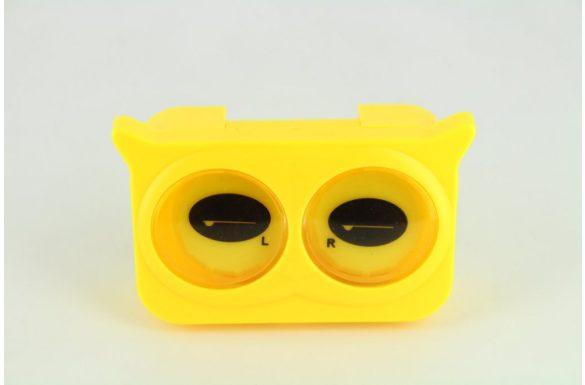 Kit custodia lenti a contatto occhi colorati, Colore: giallo