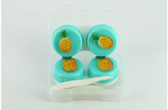 Kit custodia lenti a contatto frutta, Colore: verde / ananas