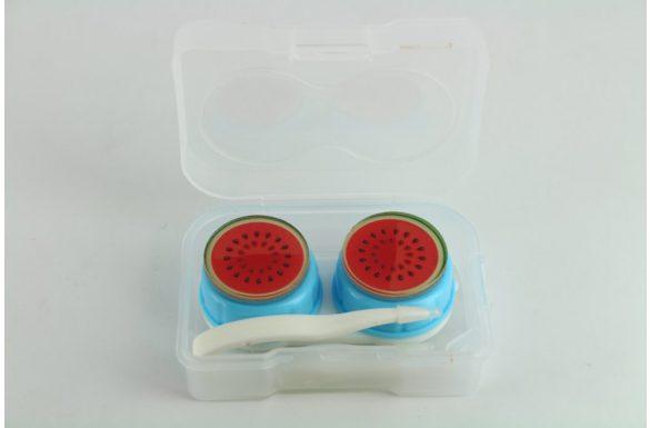 Kit custodia lenti a contatto frutta, Colore: turchese / anguria