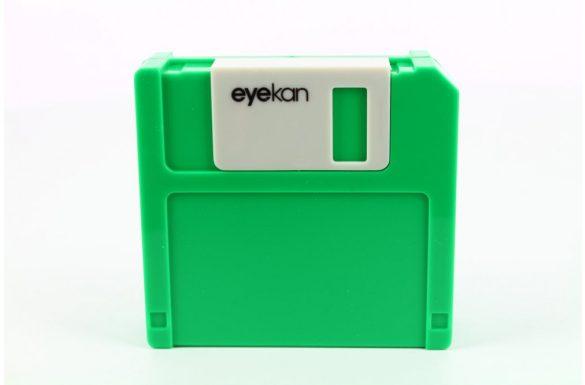 Kit custodia lenti a contatto Floppy Disk, Colore: verde