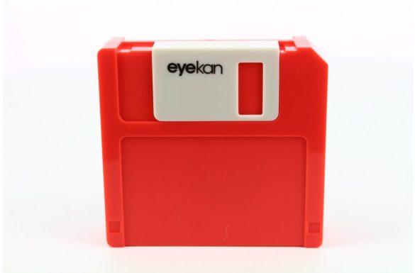 Kit custodia lenti a contatto Floppy Disk, Colore: rosso