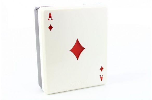 Kit custodia lenti a contatto French Card, Colore: asso di quadri