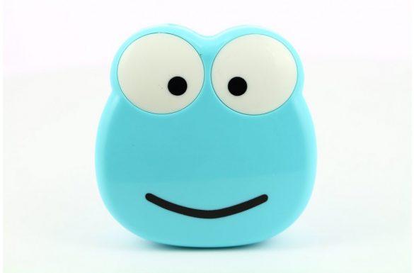 Kit custodia lenti a contatto figura rana, Colore: blu
