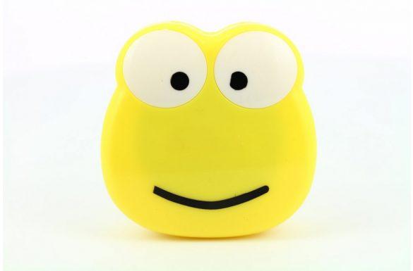 Kit custodia lenti a contatto figura rana, Colore: giallo