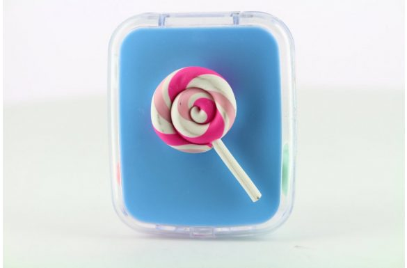Kit custodia lenti a contatto lollipop, Colore: baby blu