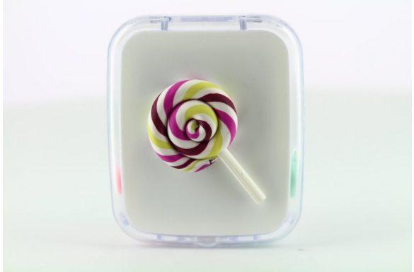 Kit custodia lenti a contatto lollipop, Colore: bianco trasparente