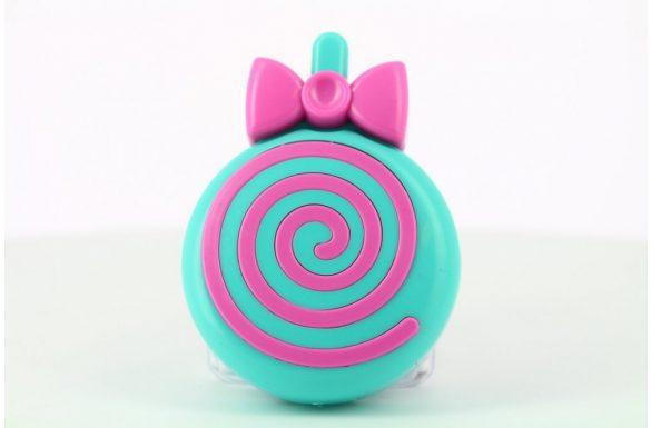 Kit custodia lenti a contatto lollipop, Colore: blu e viola