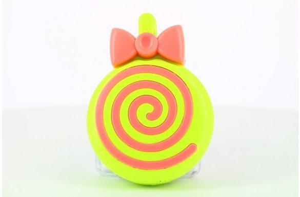 Kit custodia lenti a contatto lollipop, Colore: verde e rosso