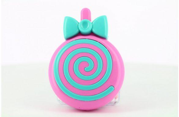 Kit custodia lenti a contatto lollipop, Colore: viola e blu