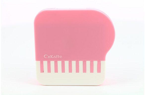 Kit custodia lenti a contatto modello di pianoforte, Colore: rosa