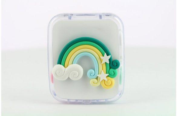 Kit custodia lenti a contatto arcobaleno, Colore: verde