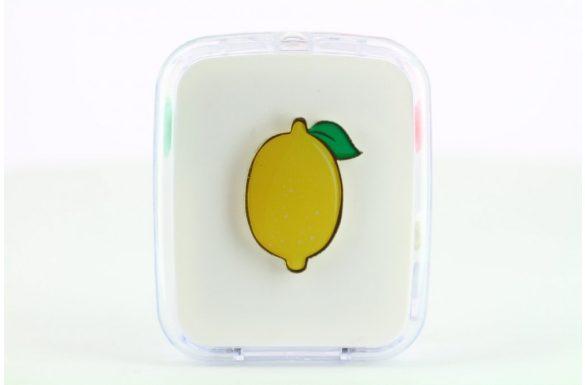 Kit custodia lenti a contatto frutta, Colore: limone