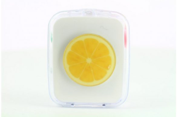 Kit custodia lenti a contatto frutta, Colore: fetta di limone