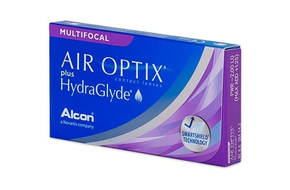 Air Optix Plus HydraGlyde Multifocal (x3)