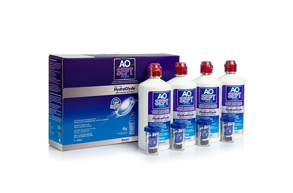 AoSept Plus with HydraGlyde (4x360 ml)