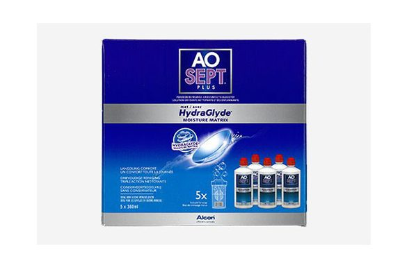 AoSept Plus with HydraGlyde (5x360 ml)