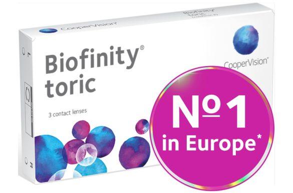 Biofinity Toric (3 pz), Lenti a contatto mensili