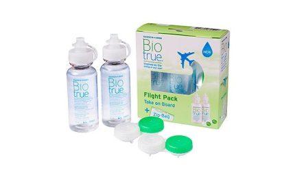 Biotrue Flight Pack (2x60 ml), Soluzione per lenti a contatto + 2 portalenti