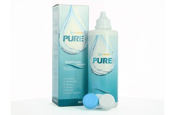 EyeContact PURE (360 ml), Soluzione per lenti a contatto + 1 portalenti