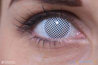 ColourVUE Crazy PixelWhite (2 pz) - Lenti a contatto cosmetiche trimestrali