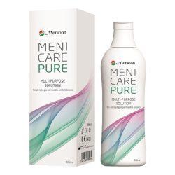Menicare Pure (250 ml), soluzione per lenti a contatto + 1 portalenti – per lenti duro