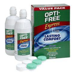 Opti-Free Express (2x355 ml),  Soluzione per lenti a contatto + 2 portalenti