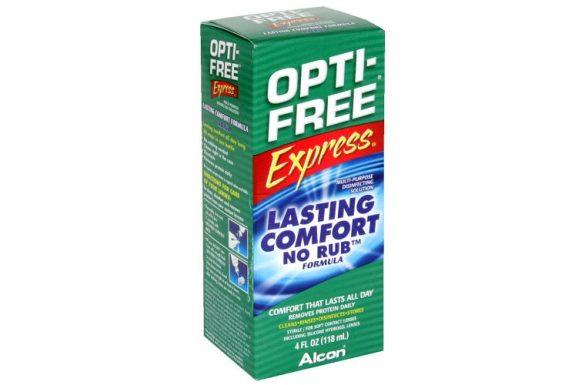 OPTI-FREE Express (355 ml), Soluzione per lenti a contatto + 1 portalenti