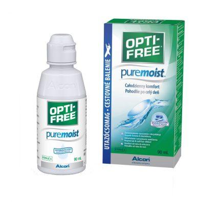 OPTI-FREE PureMoist (90 ml), Soluzione per lenti a contatto + 1 portalenti