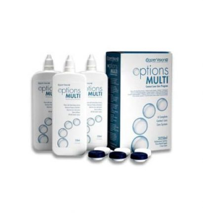 Options Multi Pack (3x250 ml), Soluzione per lenti a contatto + 3 portalenti