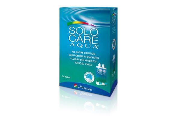 Solo-Care Aqua (2x360 ml),  Soluzione per lenti a contatto + 2 portalenti