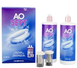 AoSept Plus (2x360 ml), Fluido per lenti a contatto + 2 contenitori